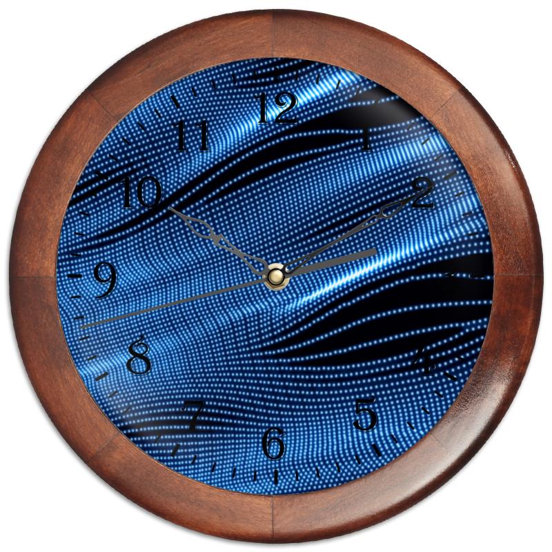 Printio Часы круглые из дерева Звуковые волны
