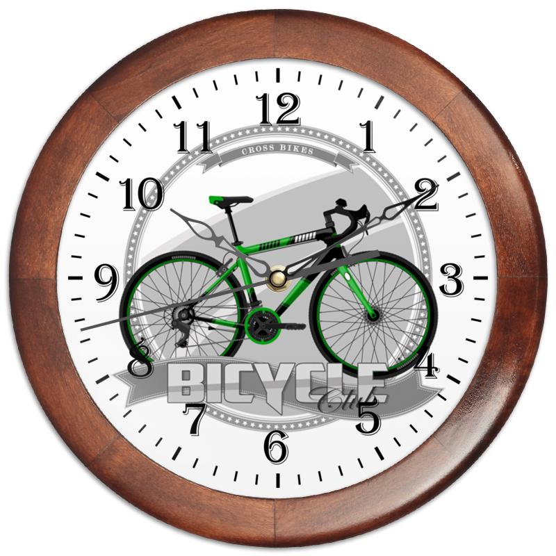 Printio Часы круглые из дерева Участник велосипедного соревнования.