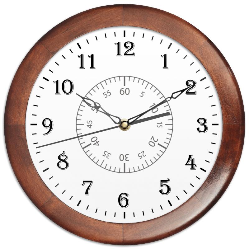 Printio Часы круглые из дерева Минутная разметка