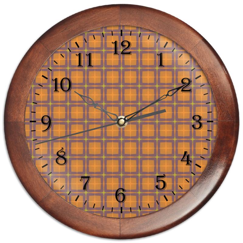 Printio Часы круглые из дерева Detroit