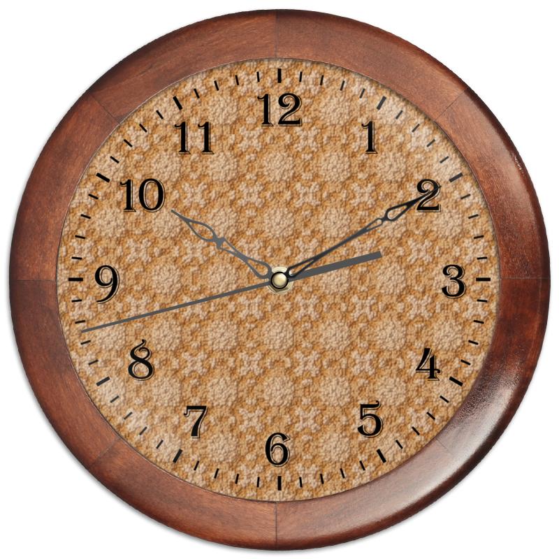 Printio Часы круглые из дерева Dustcloud