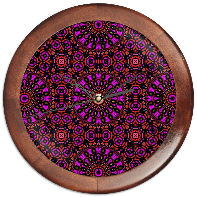 Printio Часы круглые из дерева Purple