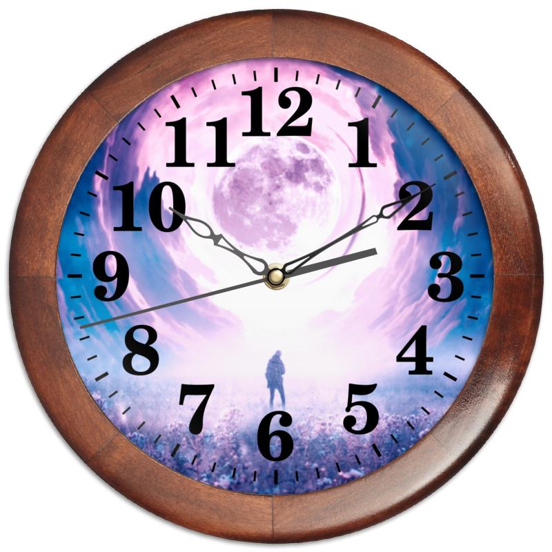 Printio Часы круглые из дерева Поляризованный сон