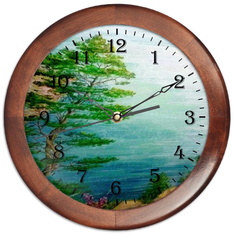 Printio Часы круглые из дерева Песчаный берег