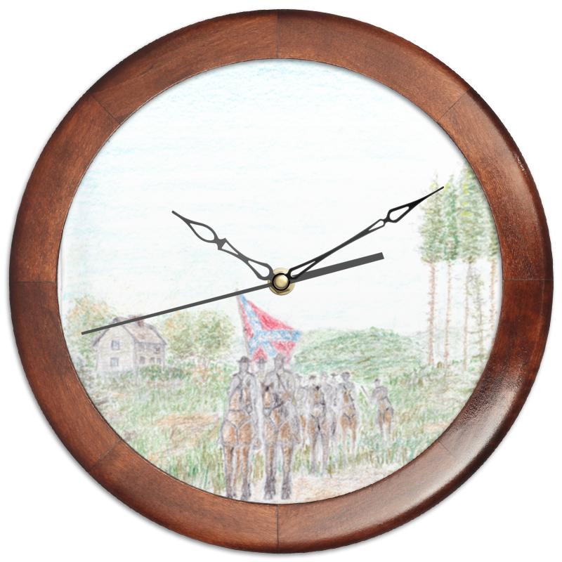 Фото - Printio Часы круглые из дерева Кавалерия конфедерации printio часы круглые из дерева крыса и сыр