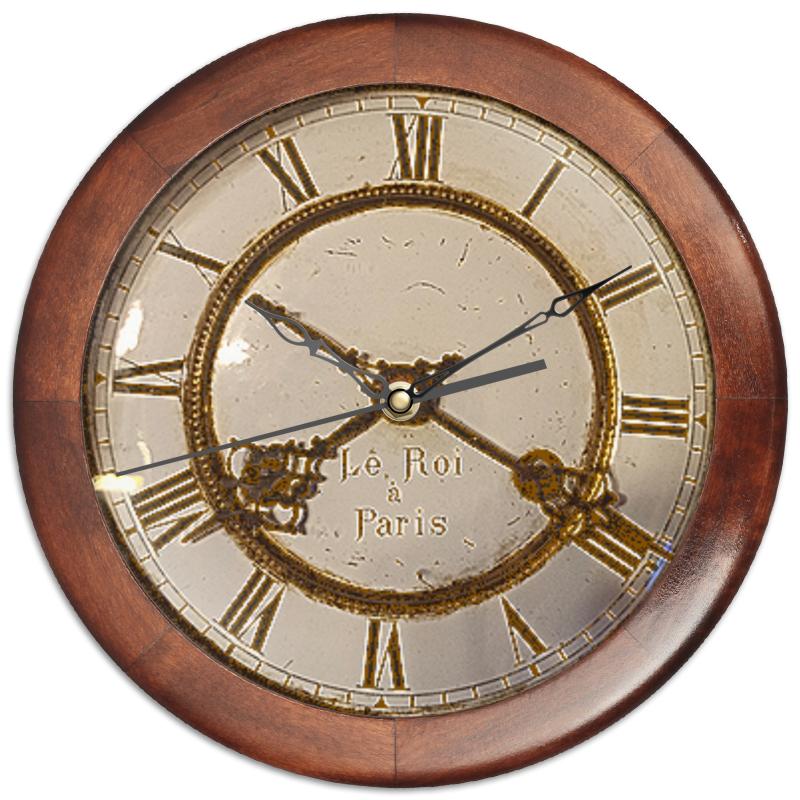 Фото - Printio Часы круглые из дерева Старинные часы. printio часы круглые из дерева крыса и сыр