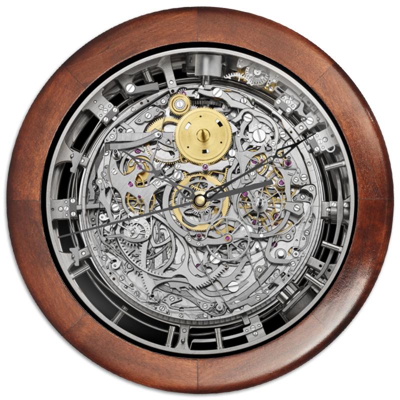 Printio Часы круглые из дерева Стрелки