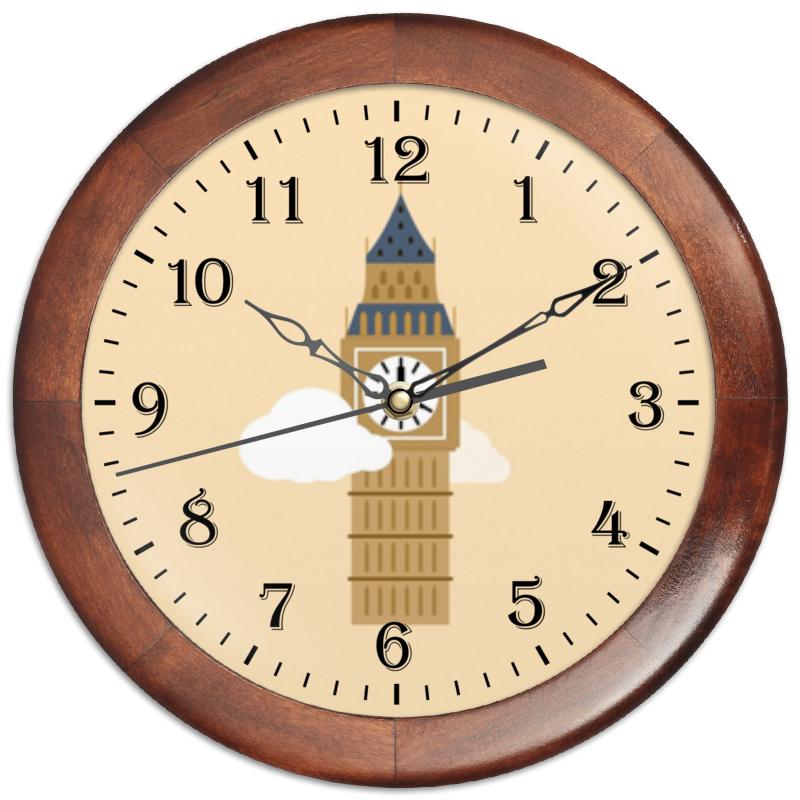 Printio Часы круглые из дерева Big ben