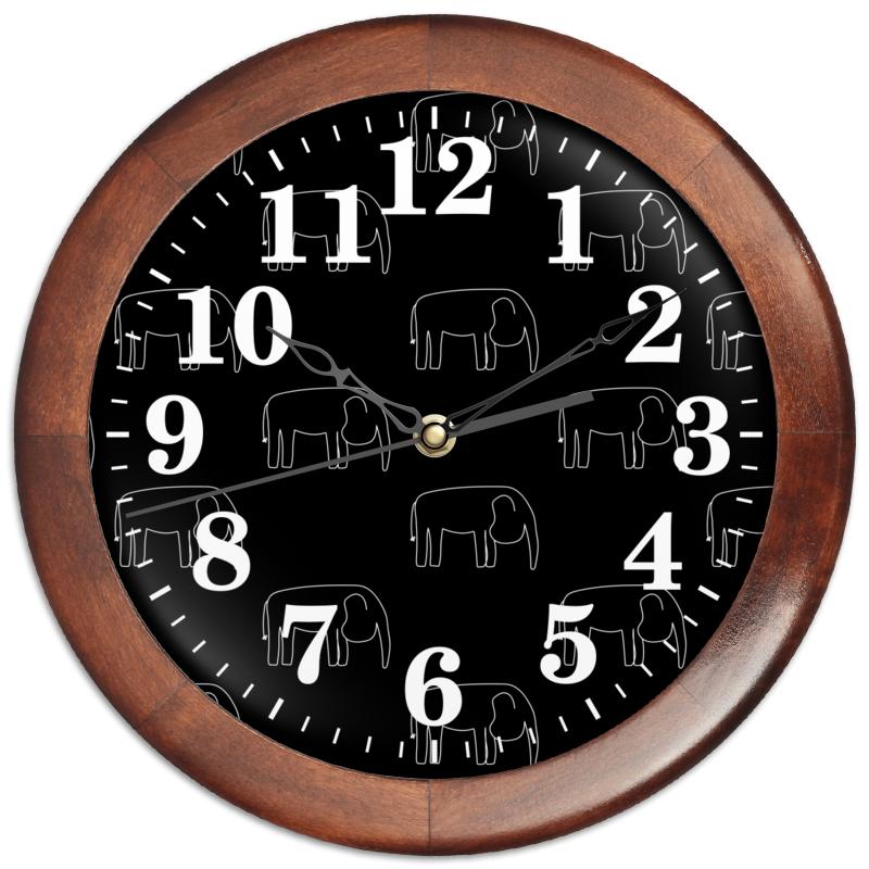 Фото - Printio Часы круглые из дерева Белый слон printio часы круглые из дерева крыса и сыр