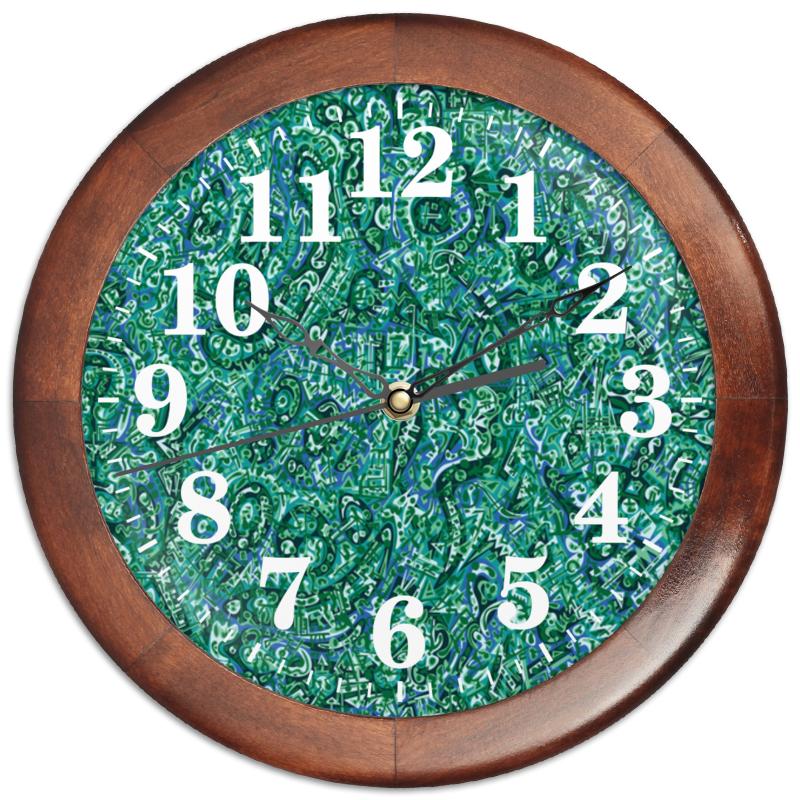 Фото - Printio Часы круглые из дерева Бирюзовый printio часы круглые из дерева крыса и сыр