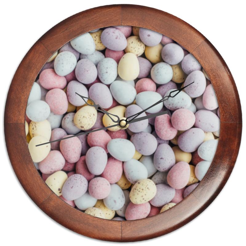 printio камни Printio Часы круглые из дерева Разноцветные камни