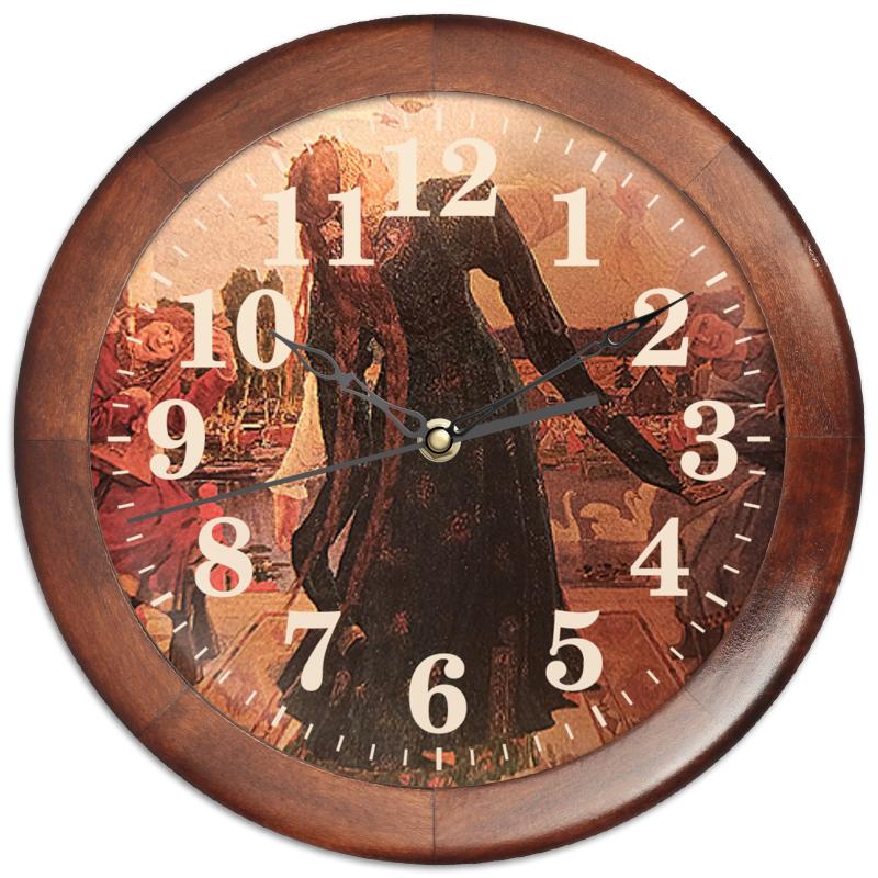 Фото - Printio Часы круглые из дерева Царевна-лягушка. printio часы круглые из дерева крыса и сыр