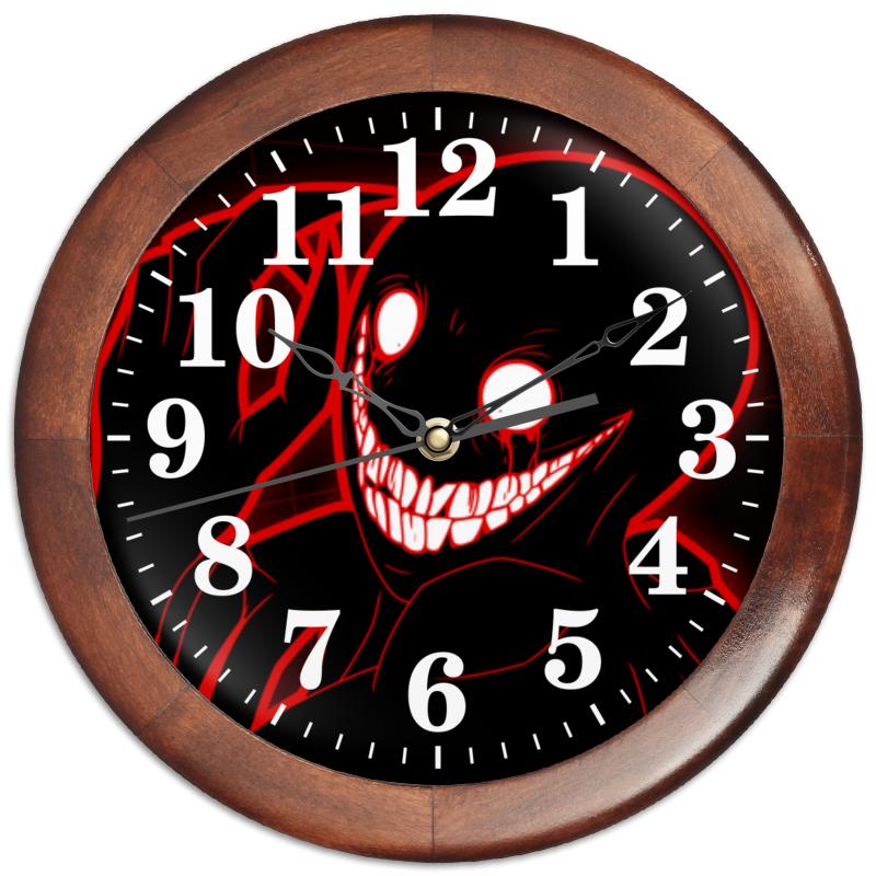 Printio Часы круглые из дерева Красная улыбка
