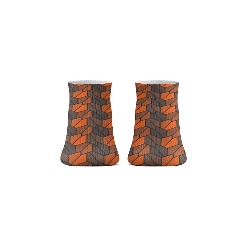 Printio Носки короткие Rumpled orange недорого