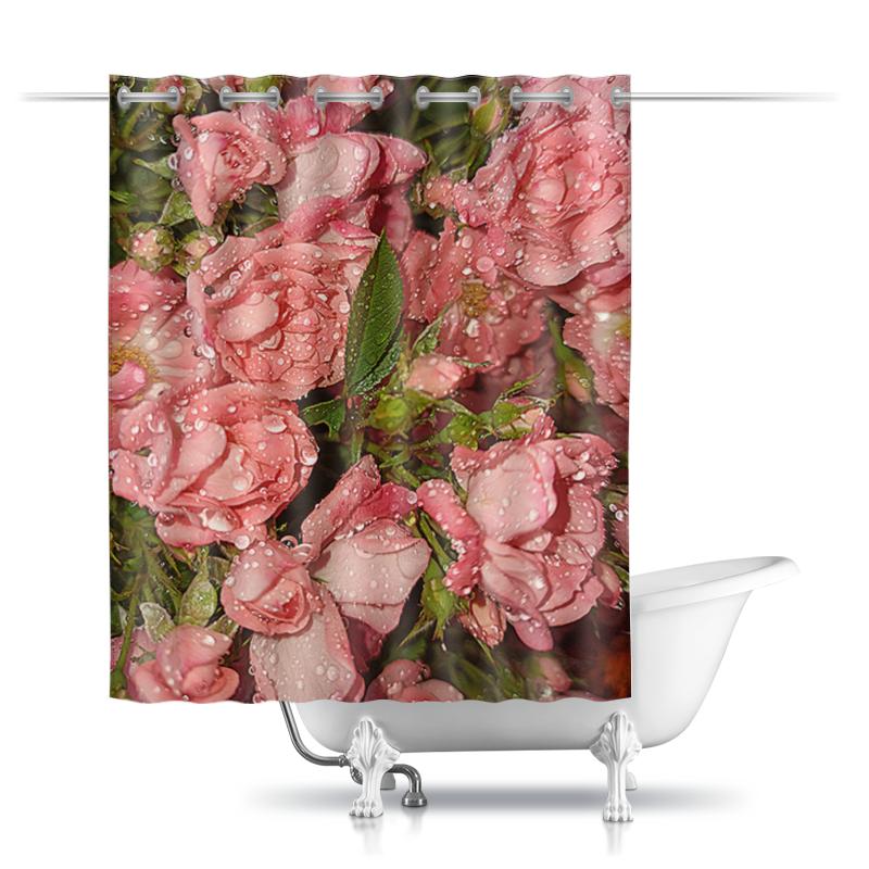 Printio Шторы в ванную Розовые розы.