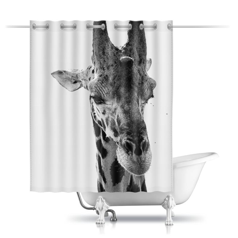 Printio Шторы в ванную Голова самца жирафа