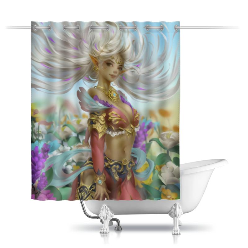 Printio Шторы в ванную Цветочный демон
