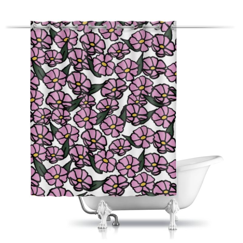 Printio Шторы в ванную Розовые цветы printio шторы в ванную полевые цветы