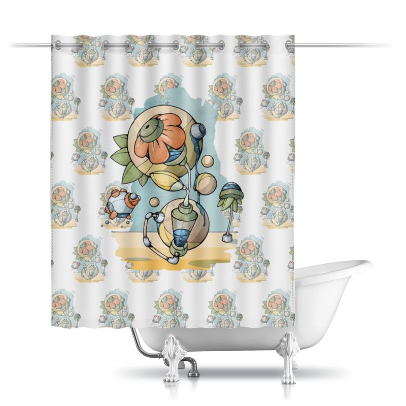 Фото - Printio Шторы в ванную Цветочные узоры printio шторы в ванную черепушка