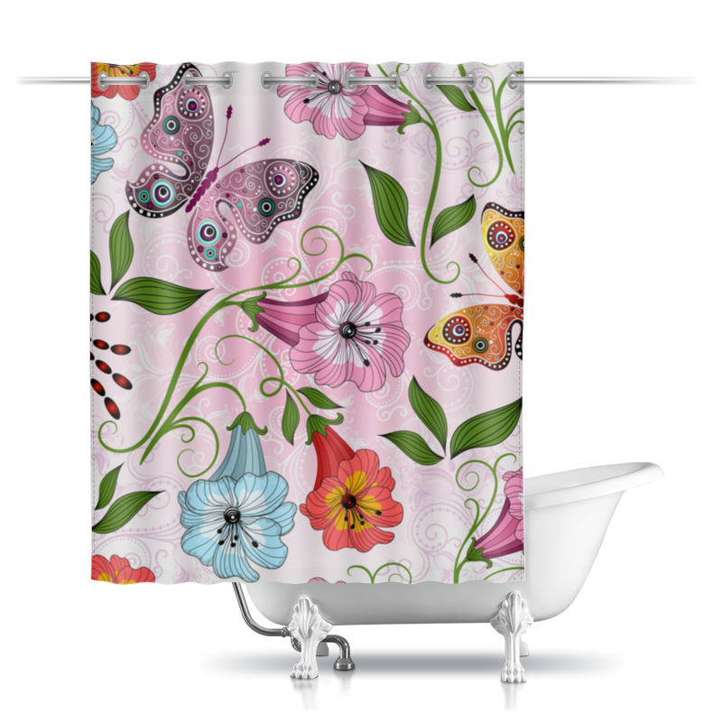 Printio Шторы в ванную Летние цветы printio шторы в ванную полевые цветы