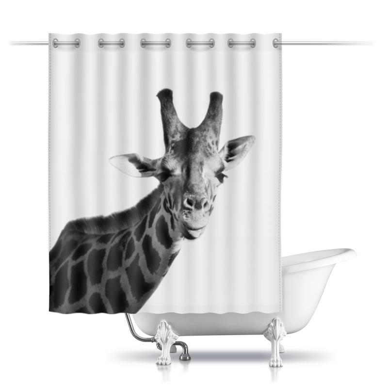Printio Шторы в ванную Жираф показывает язык