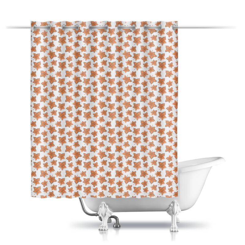 Printio Шторы в ванную Кленовые листья оранжевые
