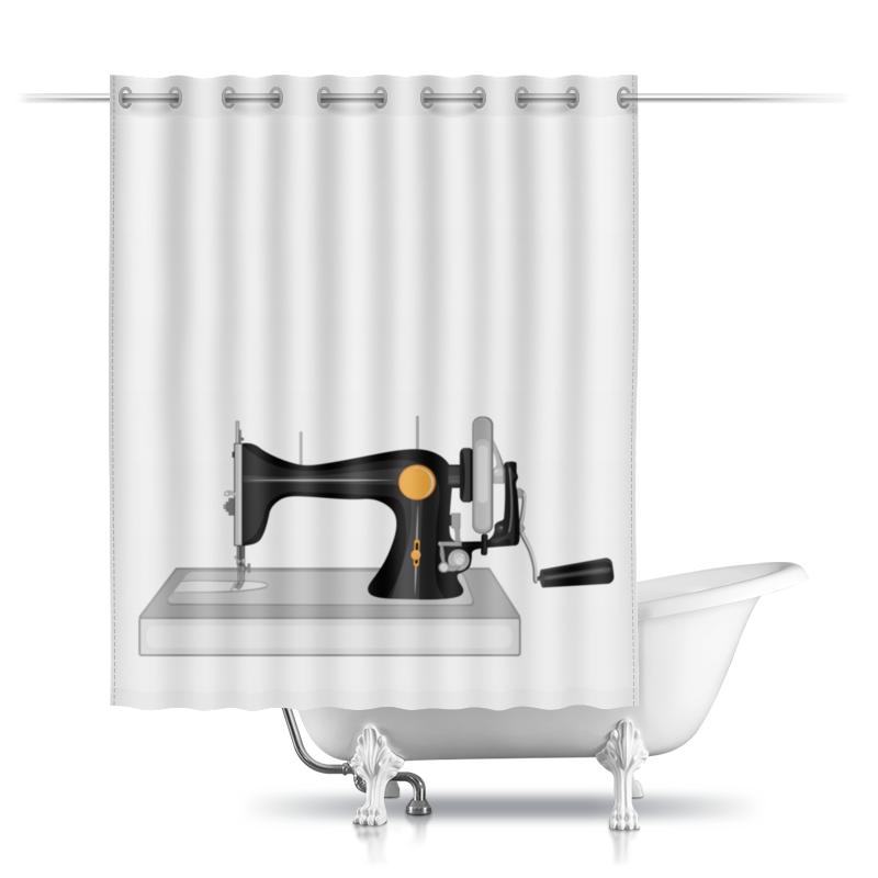Printio Шторы в ванную Старая швейная машина с ручным приводом
