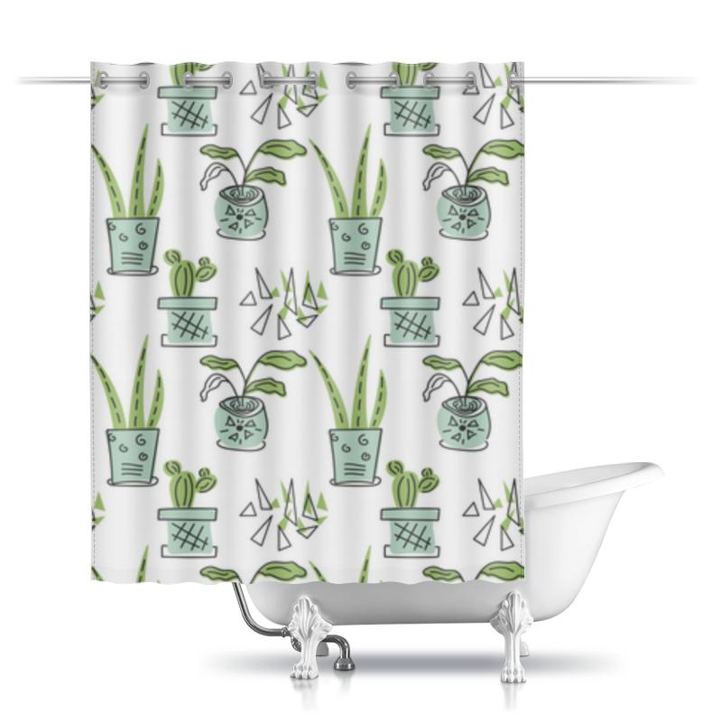 Printio Шторы в ванную Комнатные растения и кактусы