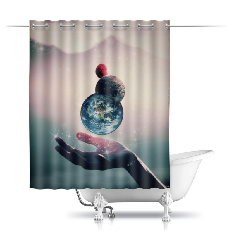 Printio Шторы в ванную Планеты