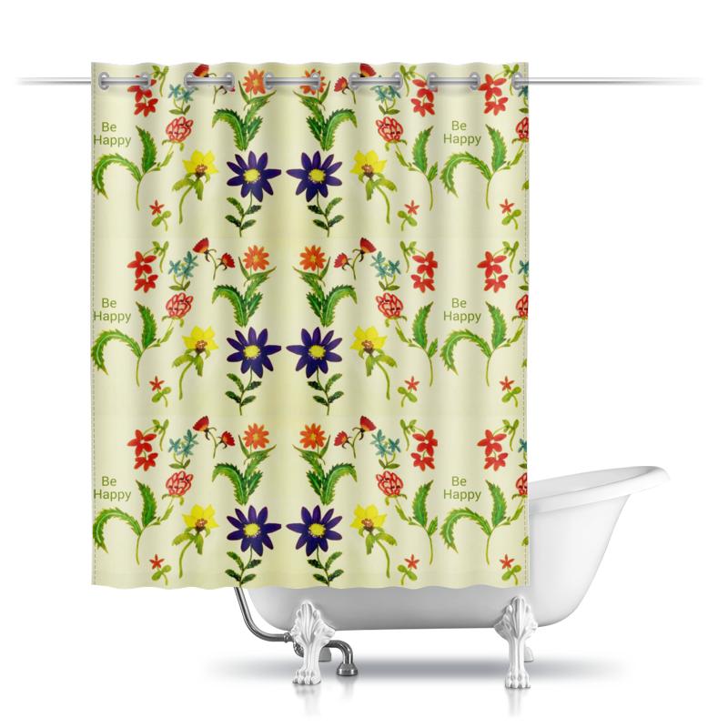 Printio Шторы в ванную Цветы тропиков printio шторы в ванную полевые цветы