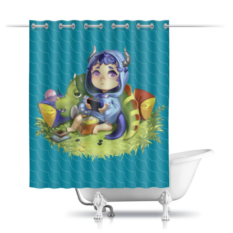 Фото - Printio Шторы в ванную Детеныш дракона printio шторы в ванную черепушка
