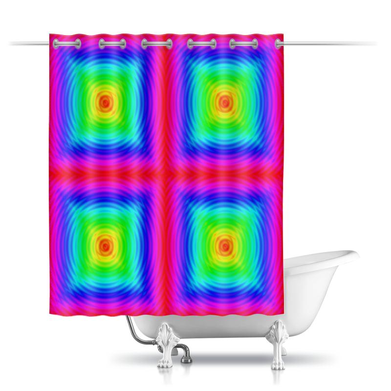 Фото - Printio Шторы в ванную Радужная иллюзия printio шторы в ванную черепушка