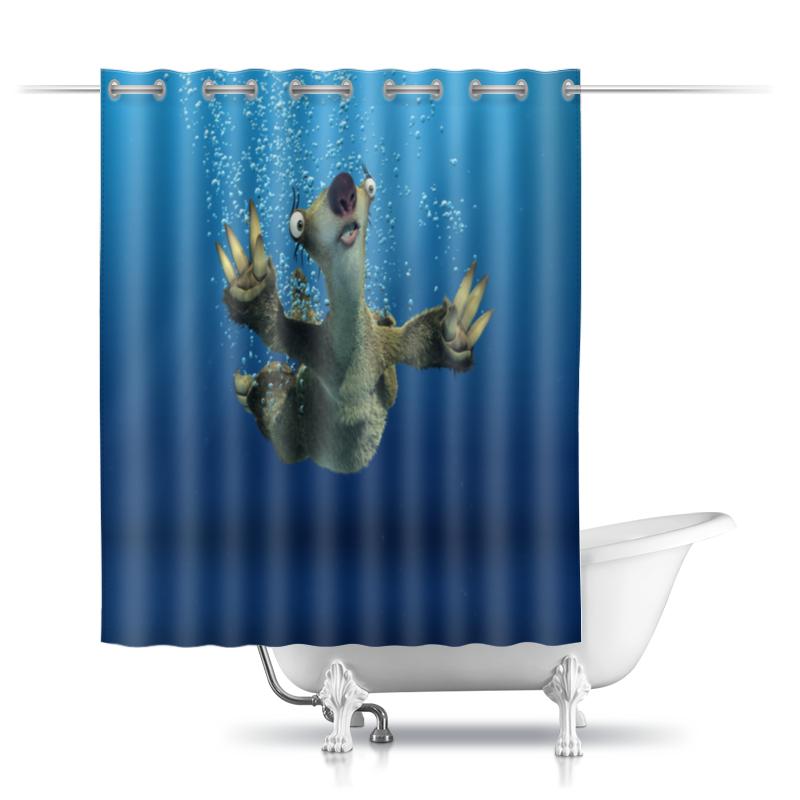 Printio Шторы в ванную Ледниковый период (сид под водой)
