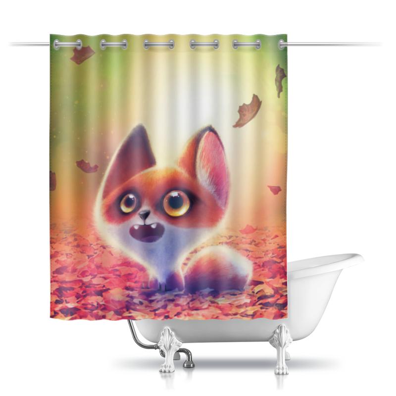 Фото - Printio Шторы в ванную Лисенок printio шторы в ванную черепушка