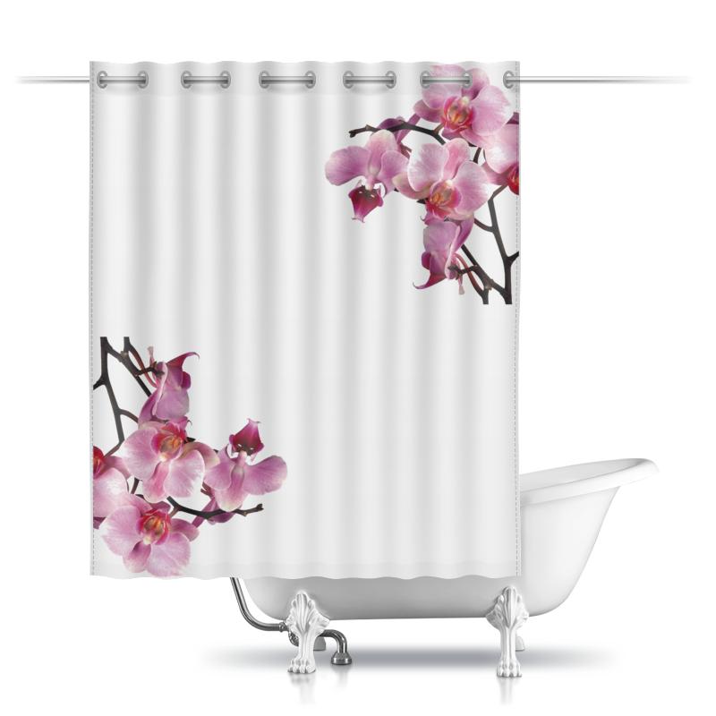 Фото - Printio Шторы в ванную Орхидея printio шторы в ванную черепушка