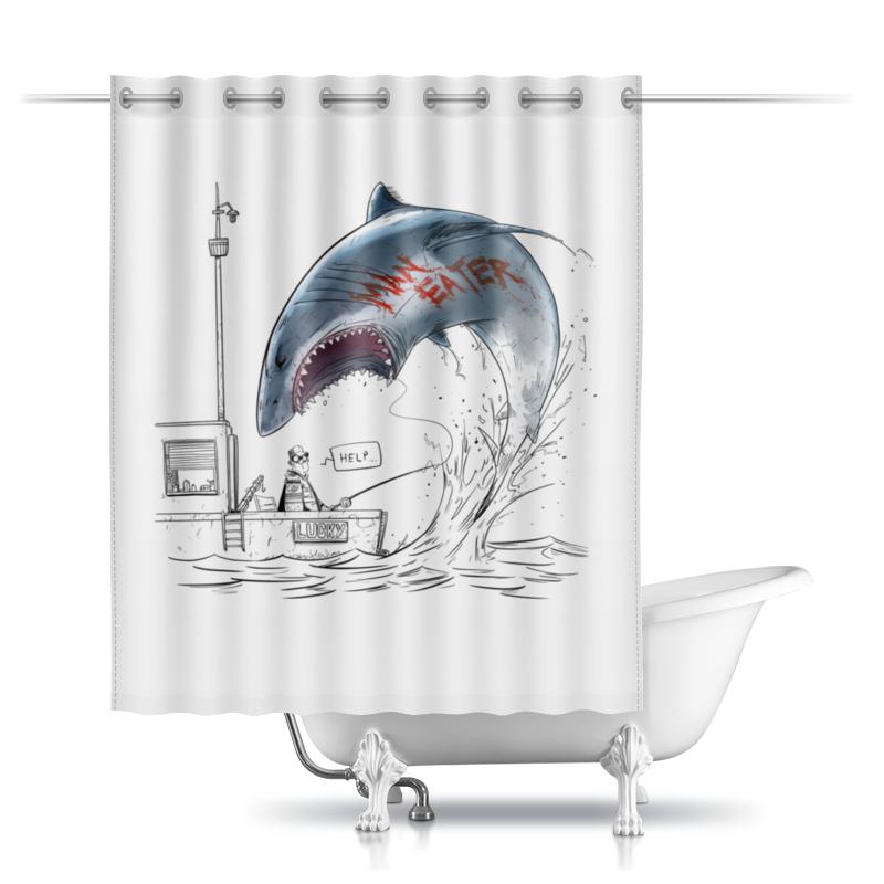 Фото - Printio Шторы в ванную Людоед printio шторы в ванную черепушка