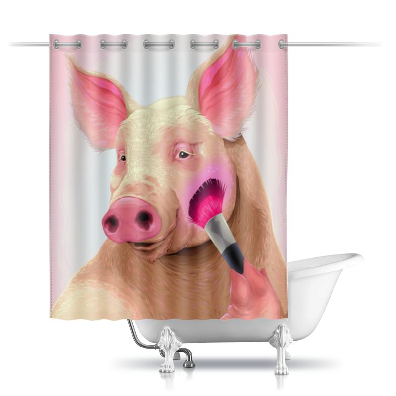 Printio Шторы в ванную Стильная свинья