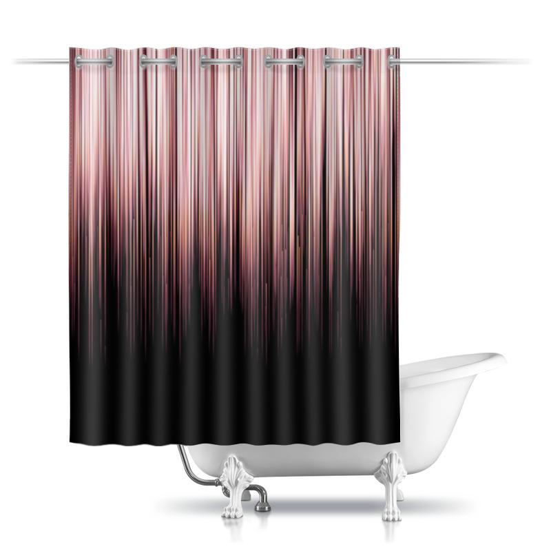 Printio Шторы в ванную Pink chrome