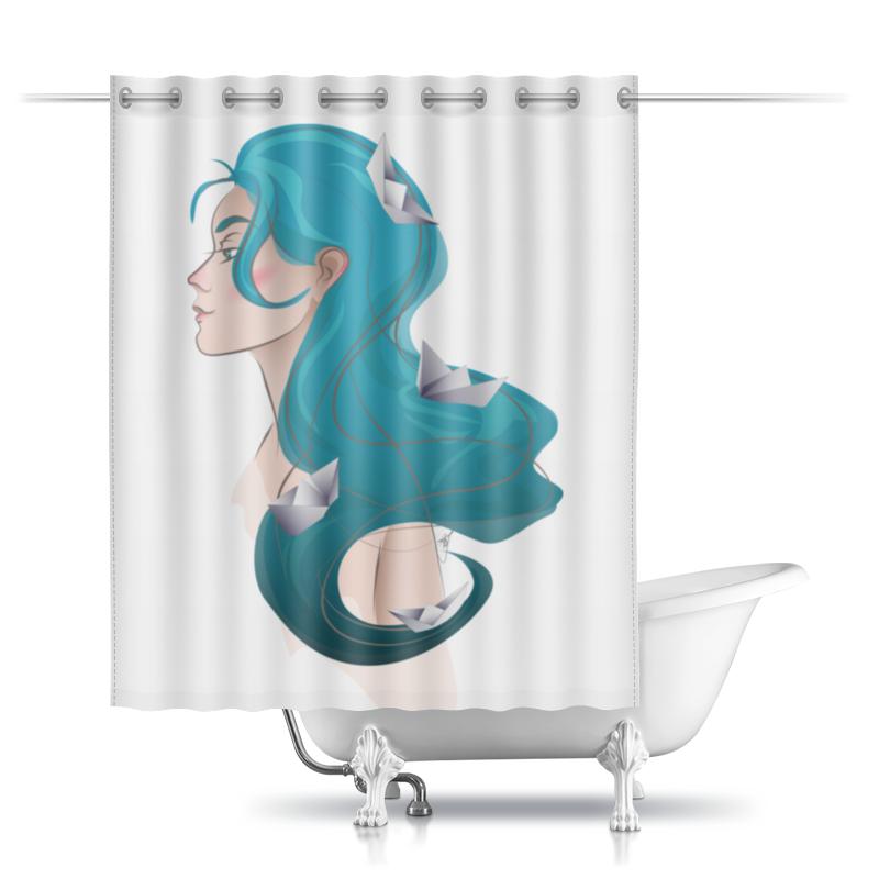 Printio Шторы в ванную Леди море