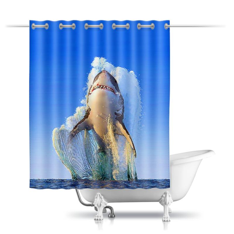 Printio Шторы в ванную Shark design