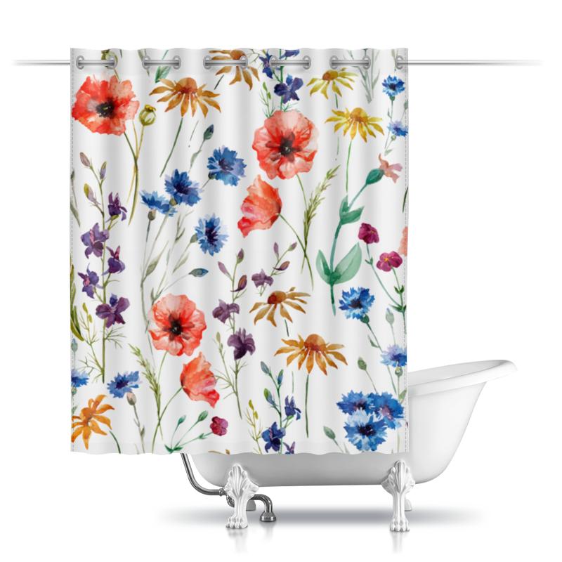 Printio Шторы в ванную Полевые цветы printio шторы в ванную полевые цветы