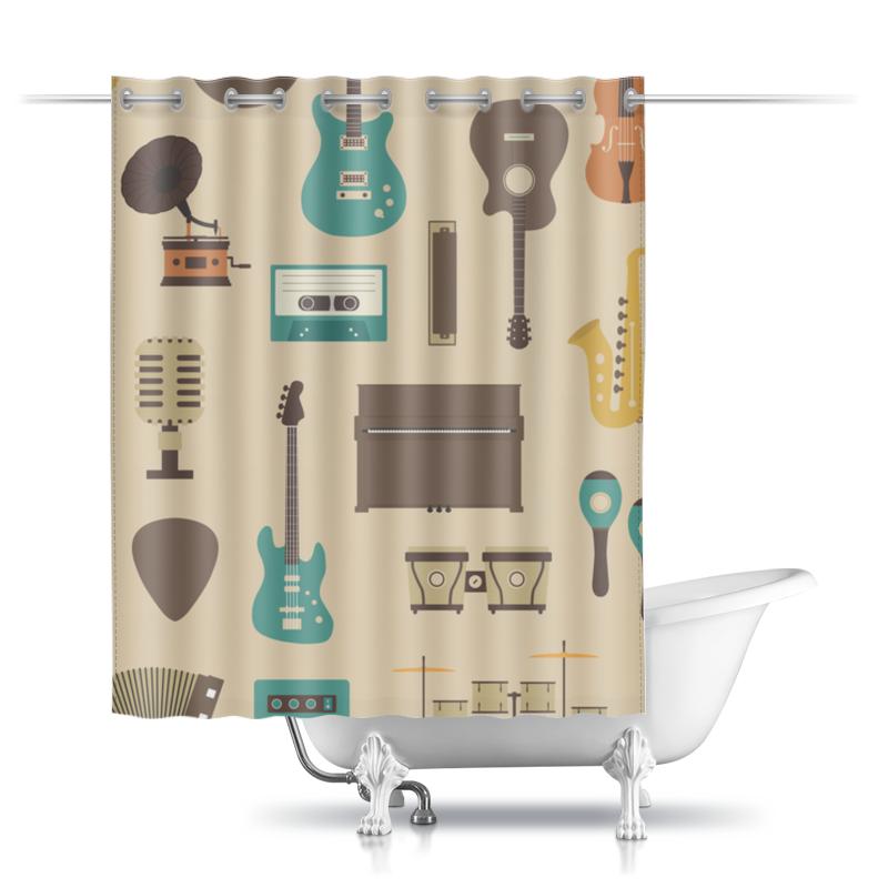 Printio Шторы в ванную Музыкальные инструменты