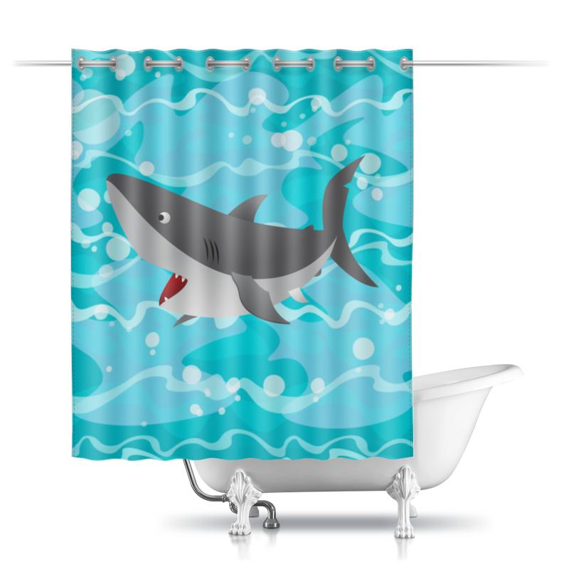 Printio Шторы в ванную Акула( baywatch)