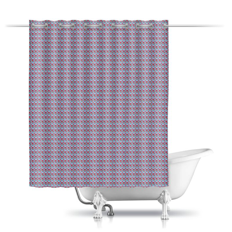Printio Шторы в ванную Розы на голубом фоне