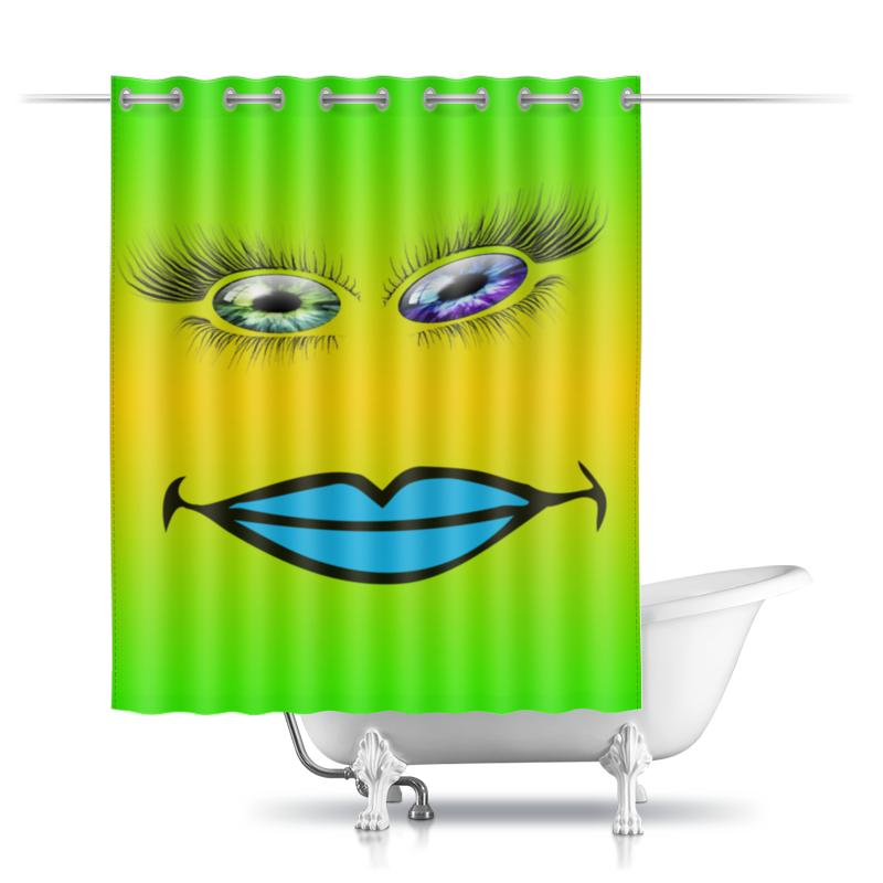 Printio Шторы в ванную Разноцветные глаза