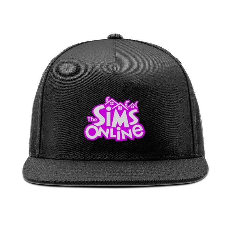 Printio Кепка снепбек с прямым козырьком Sims online