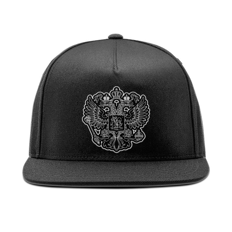 Printio Кепка снепбек с прямым козырьком Россия (герб)