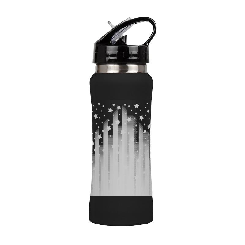 Printio Спортивная бутылка Геометрия ночного города. спортивная бутылка pinnacle sports красная