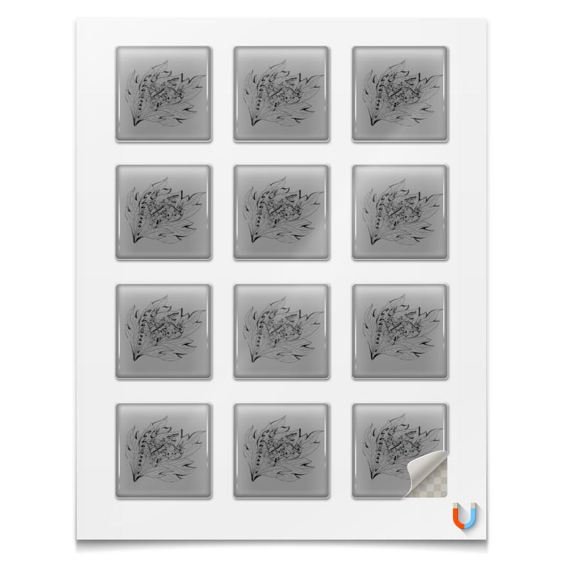 Printio Магниты квадратные 5×5 см Листья