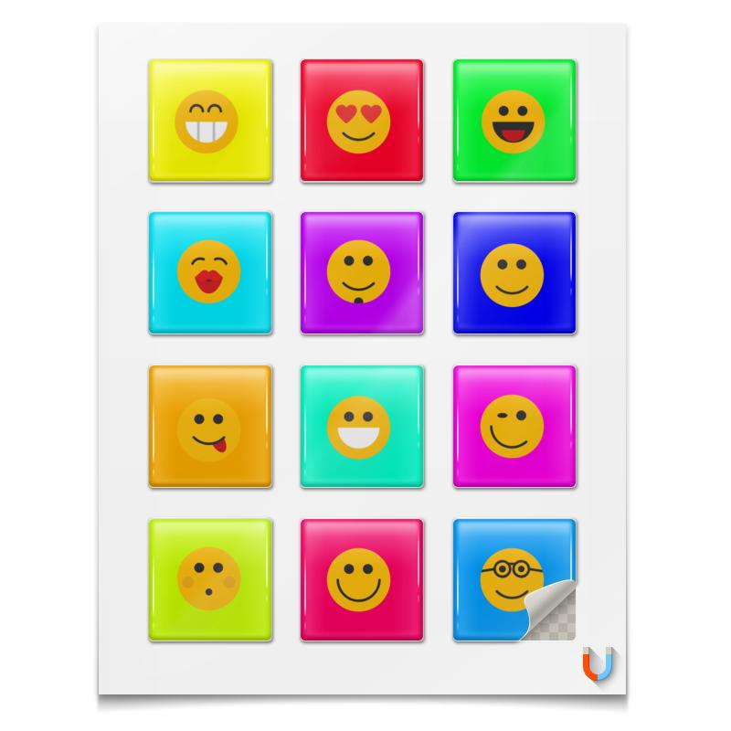 Printio Магниты квадратные 5×5 см Счастливые краски.